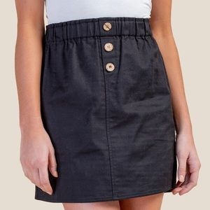 Rosie Button Front Mini Skirt
